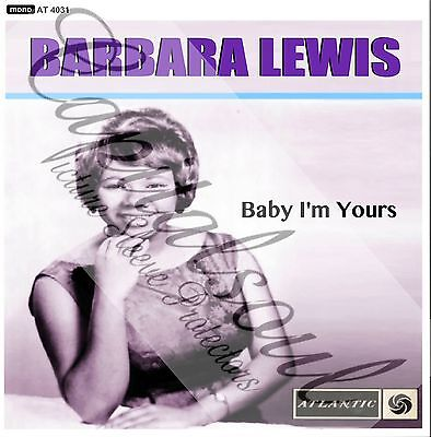 60S R/b Soul Atlantic Barbara Lewis Baby I'm Yours Picture Sleeve