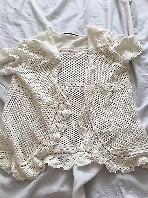 Girls White Cardigan In Size 11-12 Years From George