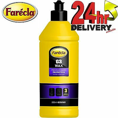 Farecla G3 WAX Premium Liquid Polish High Gloss Protection 0.5litre G3W501 500ml