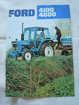 @Ford 4100 4600 Tractor Spec Sheet@