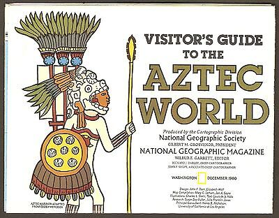 National Geographic Map Dec 1980 - Aztec World + Mexico & Central America Maps