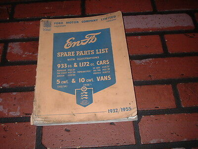 Genuine Ford Cars And Vans Illustrated Spare Parts Catalogue 1932 - 1955.
