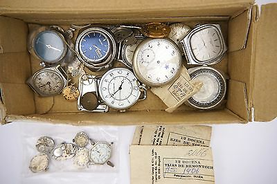 Wristwatch Cases, Movements And Parts For Spares And Repairs R138