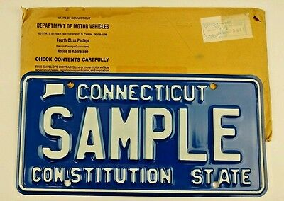 1976 Connecticut Sample License Plate