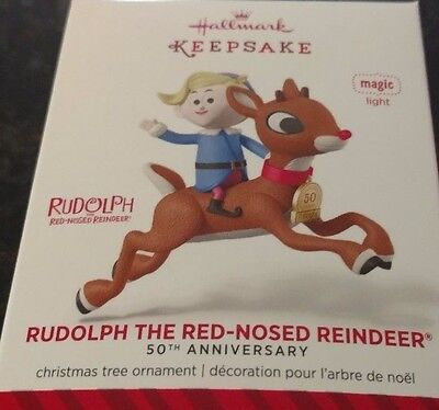 2014 Hallmark Rudolph the Red Nosed Reindeer 50th Anniversary Magic Ornament