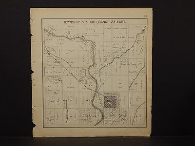 California, Fresno County Map, 1891, Reedley, Township 15, Double Sided, !K2#56