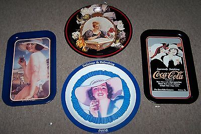 Beautiful Lot Of 4 Coca Cola Coke trays VERY RARE NEW OLD STOCK LAST OF INVENTOR