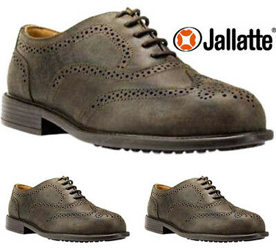 Mens Executive Leather Brogue Manager Smart Work Steel Toe Cap Safety Shoe Size