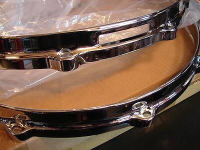 "New Ludwig Chrome Die Cast Snare Drum Hoops, 14""-10 Hole/Lug, Worldwide Shipping"