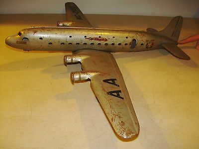 1950's American Airlines AA Marx Tin NC 2100 Flagship 4 Prop Airplane