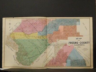 California,Fresno County Map, 1891, !K2#63