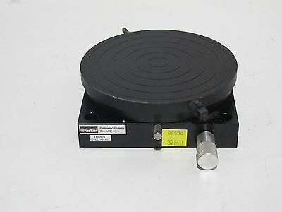 "Parker 10001 4.75"" Rotary Wafer Stage 360 Deg Worm Drive 120:1 with Vacuum Chuck"