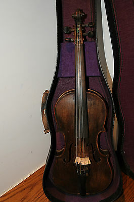 3/4 Size Violin Antonius Stradivarius Ceremonesis Faciebat Anno 17** A&S & Bow..