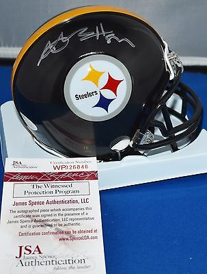 Antonio Brown Autographed Mini Helmet Pittsburgh Steelers Jsa