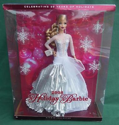 Nrfb 2008 Happy Holiday Barbie Doll Toy Mattel Christmas Special Edition New