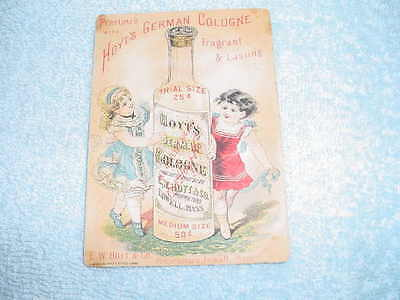 Hoyt's German Cologne 1881  - Victorian Trade Card - E. W. Hoyt Lowell, Mass