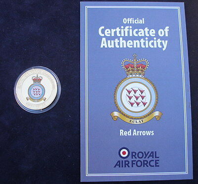 Guernsey 2013  Royal Air Force Red Arrows 24k gold plated 50p +  Certificate