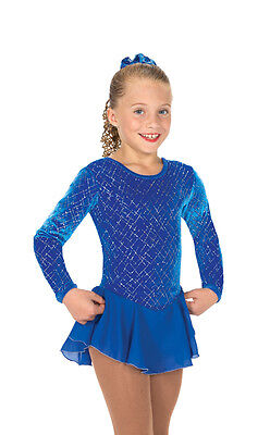 New Skating Dress Jerrys ICE TINSEL BLUE MADE ORDER 3 WEEKS FABRICATION -152
