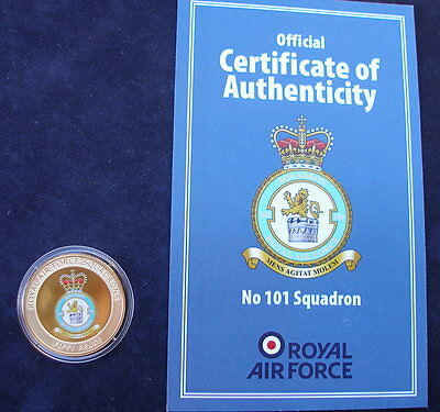 Guernsey 2013 Royal Air Force No 101 Squadron 24k gold plated 50p