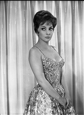 Gina Lollobrigida Stunning Glamour Photo Original Studio 8X10 Inch B/w Negative