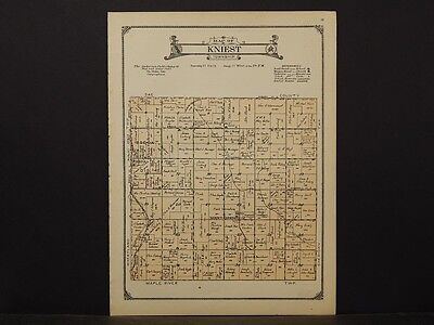 Iowa, Carroll County Map, 1923, Township of Kniest, K2#76