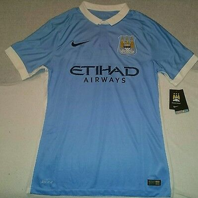 Manchester City 2015/16 Home Shirt PLAYER ISSUE Adults Large jersey BNWT