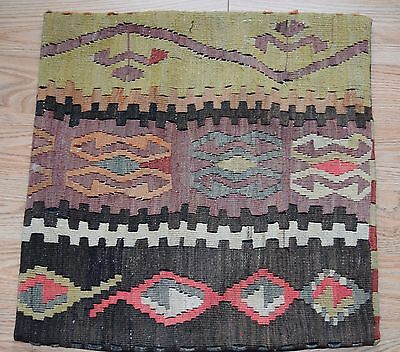 "Vintage Turkish Kilim Rug Pillow Cover  20"" x 20""  B"