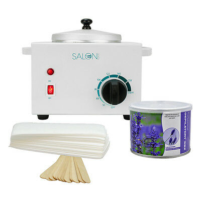 Salon Wax Can Heater Hair Removal KIT Warmer Depilatory Waxing Paper Strips Spa