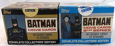 Topps DC Batman Movie Cards Series 1 & 2 Collector's Edition Sets Sealed