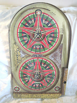Vintage Lindstrom's Gold Star Pin Ball Game Bagatell 1933