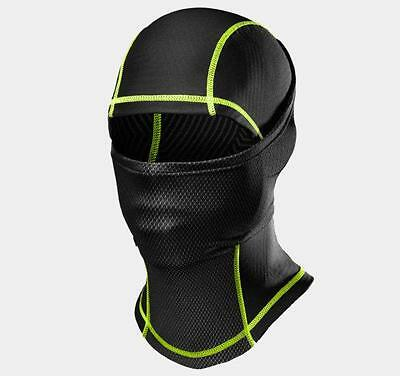 Under Armour Men's ColdGear Infrared Hood One Size Fits All Black Hyper Green