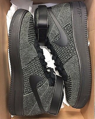 f6277e808707f NIKE AIR FORCE 1 ONE ULTRA FLYKNIT MID PALM GREEN BLACK 817420-301 Mens AF1