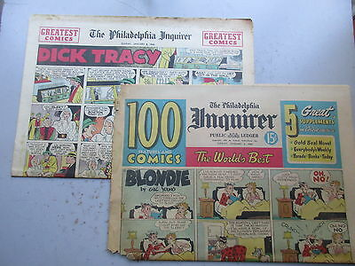 Philadelpia Inquirer Color Sunday Comics Section - TWELVE Pages January 2, 1949