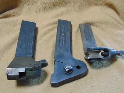 Three Lathe Machining Tool Holders Armstrong Bulldog