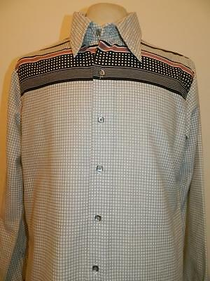 Vtg 1970/80's American long sleeved patterned shirt by Arturo, retro - Large-