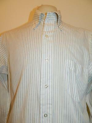Vtg 1970s American polycotton long sleeve striped shirt by Homer Reed - M