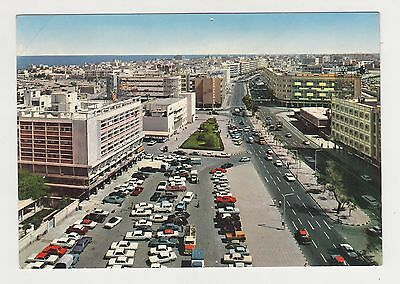 Kuwait 1960s View of Fahd Al-Salem Street with Many Cars Color Photo Postcard