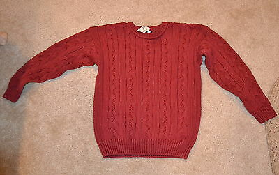 Boys Kids Gap Maroon Cableknit Pullover Sweater Size M New