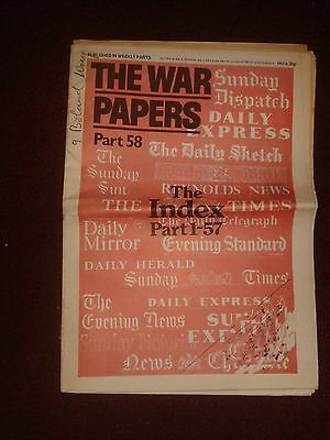 """Vintage Newspaper Reprint """"The War Papers"""" Pt 58 (reprinted paper from WW2) VGC"""