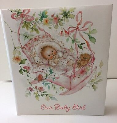 Hallmark Our Baby Girl Child Keepsake Album Memory Book Fill In New BBA5500
