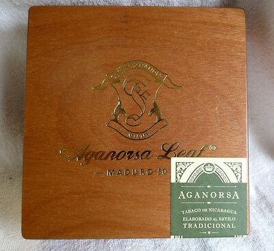 Aganorsa Leaf Maduro Miami Boxpress 50 Wood Cigar Box - Nice!
