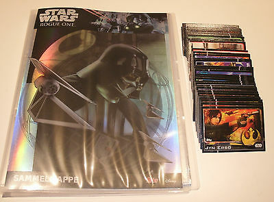 Topps Star Wars Rogue One - Sammelmappe + alle 160 Basiskarten