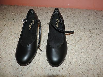 Capezio Theatrical Black Character Shoes SIZE 8.5 W WORN ONCE