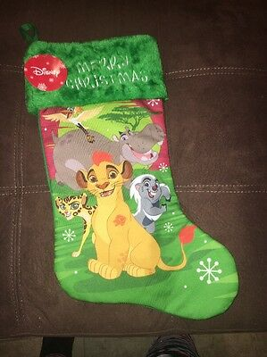 Disney Simba & Friends The Lion King Merry Christmas Stocking NEW