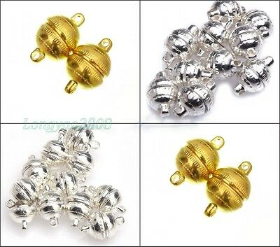 3/10 Sets Silver  Plated/Gold Plated Round Magnetic Clasps For Craft Brand New