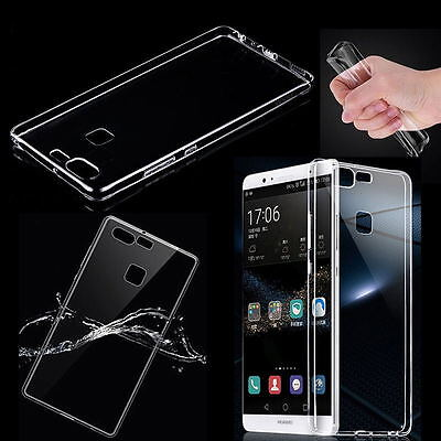 Ultra Thin Slim Soft Silicon TPU Gel Clear Hard Case Cover For Huawei