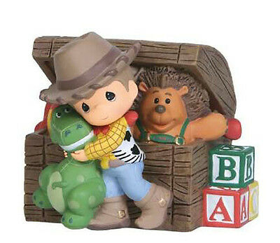♫ New PRECIOUS MOMENTS DISNEY Musical Figurine TOY STORY Woody Dino MUSIC BOX