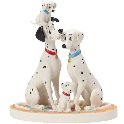 $ PRECIOUS MOMENTS DISNEY Figurine 101 DALMATIANS Pongo Perdita PUPPY DOG FAMILY