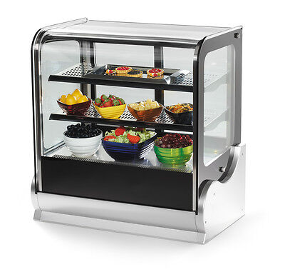 "Vollrath 40864 59"" Cubed Glass Refrigerated Countertop Display Case"