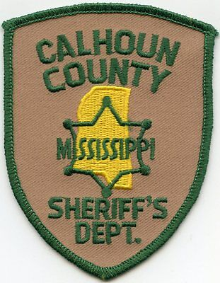 Calhoun County Mississippi Ms Sheriff Police Patch